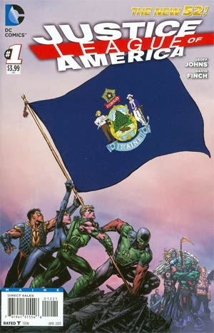Justice League Of America Vol 3 #1 Variant Maine Flag Cover