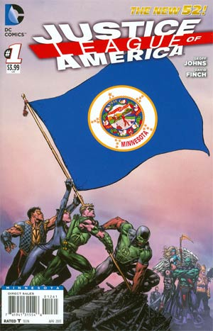 Justice League Of America Vol 3 #1 Variant Minnesota Flag Cover