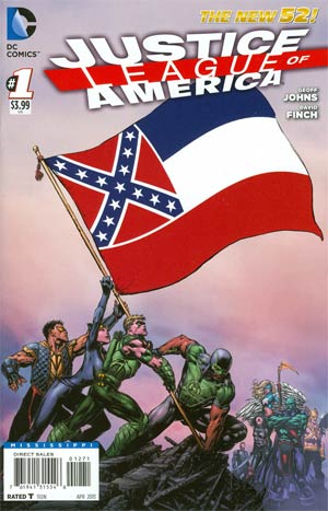 Justice League Of America Vol 3 #1 Variant Mississippi Flag Cover