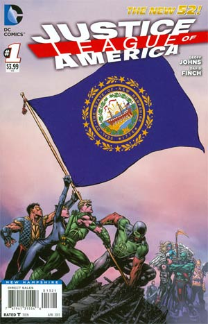 Justice League Of America Vol 3 #1 Variant New Hampshire Flag Cover