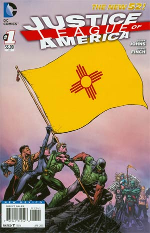 Justice League Of America Vol 3 #1 Variant New Mexico Flag Cover