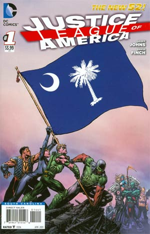 Justice League Of America Vol 3 #1 Variant South Carolina Flag Cover