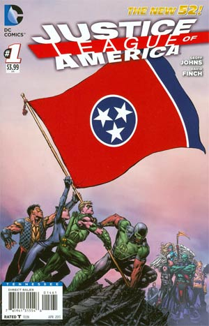 Justice League Of America Vol 3 #1 Variant Tennessee Flag Cover