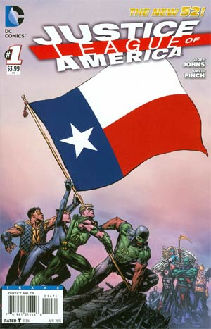Justice League Of America Vol 3 #1 Variant Texas Flag Cover