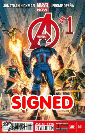 Avengers Vol 5 #1 Cover L DF Signed By John Romita Sr
