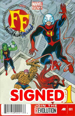 FF Vol 2 #1 Cover F DF Signed By Mike Allred