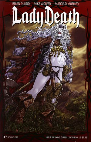 Lady Death Vol 3 #21 Viking Queen Cover