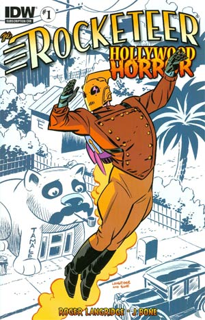 Rocketeer Hollywood Horror #1 Variant J Bone Subscription Cover