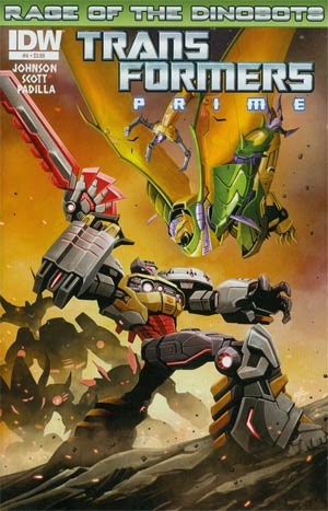 Transformers Prime Rage Of The Dinobots #4 Regular Ken Christiansen Cover