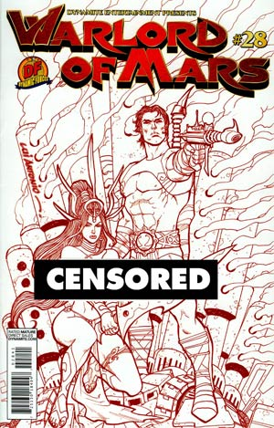 Warlord Of Mars #28 DF Exclusive Lui Antonio Martian Red Risque Variant Cover