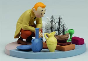 Tintin Tintin At The Flea Market Box Scene Statue