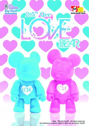 Love Bear 2.5-Inch Qee 2-Pack