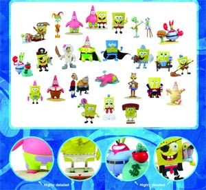 SpongeBob Mini Figure World - Mr Krabs & Plankton