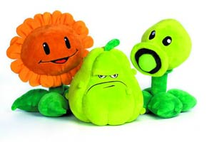 Plants vs Zombies 7-Inch Plush Assortment Case