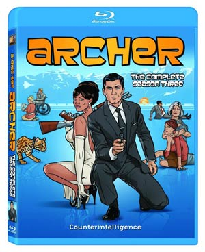 Archer Season 3 Blu-ray DVD