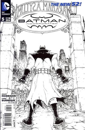 Batman Incorporated Vol 2 #5 Incentive Chris Burnham Sketch Cover
