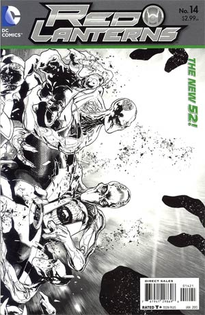 Red Lanterns #14 Incentive Miguel Sepulveda Sketch Cover (Rise Of The Third Army Tie-In)