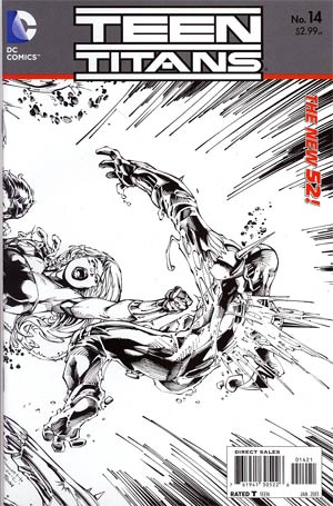 Teen Titans Vol 4 #14 Incentive Brett Booth Sketch Cover