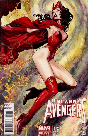 Uncanny Avengers #2 Incentive Milo Manara Variant Cover