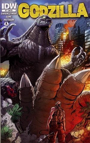 Godzilla Vol 2 #7 Incentive Matt Frank Variant Cover