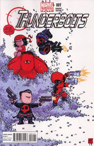 Thunderbolts Vol 2 #1 Variant Skottie Young Baby Cover