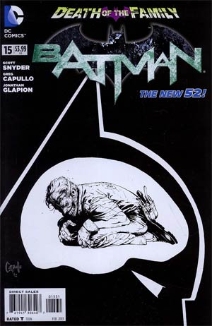 Batman Vol 2 #15  Incentive Greg Capullo Sketch Cover (Death Of The Family Tie-In)