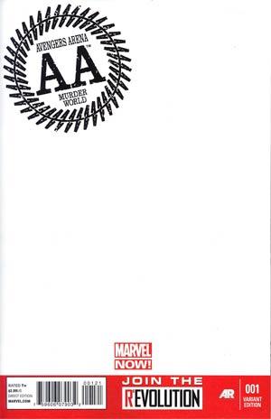 Avengers Arena #1 Variant Blank Cover