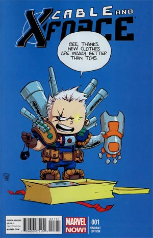 Cable And X-Force #1 Variant Skottie Young Baby Cover