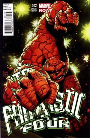 Fantastic Four Vol 4 #2 Incentive Adam Kubert Variant Cover