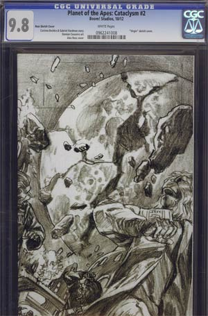 Planet Of The Apes Cataclysm #2 Incentive Alex Ross Virgin Sketch Cover CGC 9.8