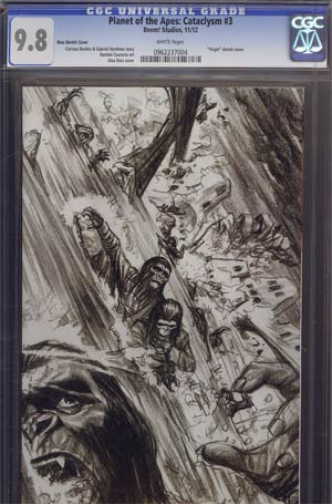 Planet Of The Apes Cataclysm #3 Incentive Alex Ross Virgin Sketch Cover CGC 9.8