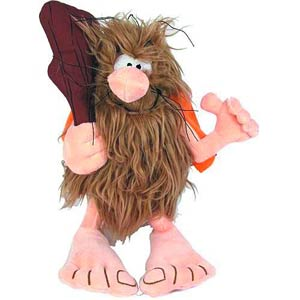Captain Caveman 10-Inch Plush With Sound
