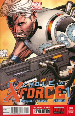 Cable And X-Force #1 Incentive Joe Quesada Variant Cover