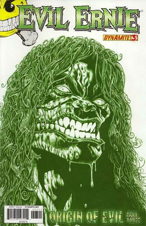 Evil Ernie Vol 3 #3 Incentive Kyle Hotz Chaotic Green Cover