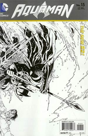 Aquaman Vol 5 #15 Incentive Eddie Barrows Sketch Cover (Throne Of Atlantis Part 2)