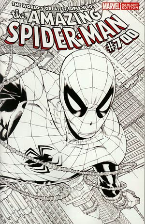 Amazing Spider-Man Vol 2 #700 Cover I Incentive Joe Quesada Sketch Cover