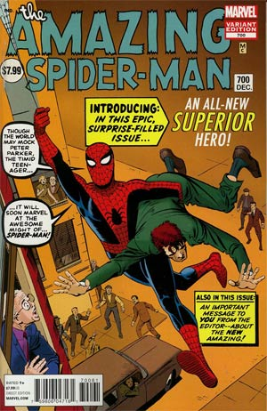 Amazing Spider-Man Vol 2 #700 Incentive Steve Ditko Variant Cover