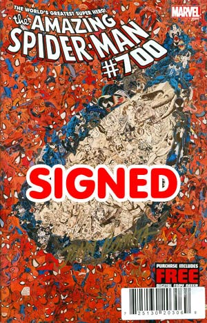Amazing Spider-Man Vol 2 #700 DF John Romita Sr Gold Signature Series Signed By John Romita Sr