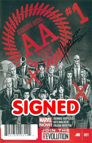 Avengers Arena #1 DF Signed By Dennis Hopeless