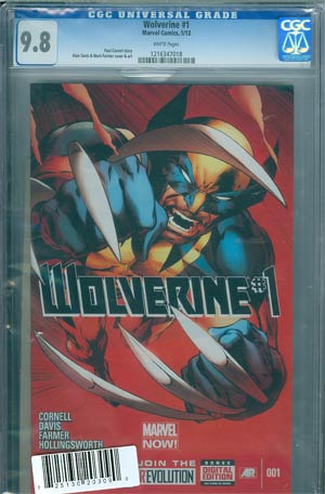 Wolverine Vol 5 #1 Cover H DF Regular Alan Davis Cover CGC 9.8