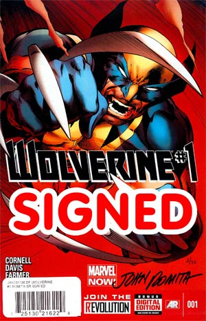 Wolverine Vol 5 #1 Cover I DF Signed By John Romita Sr