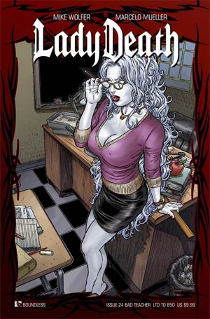 Lady Death Vol 3 #24 Bad Teacher Cover