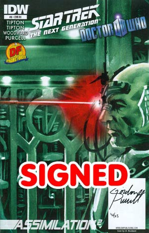 Star Trek The Next Generation Doctor Who Assimilation2 #8 Cover D DF Signed By Gordon Purcell