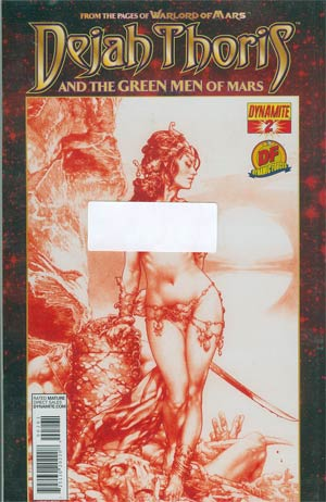 Dejah Thoris And The Green Men Of Mars #2 DF Exclusive Martian Red Risque Cover
