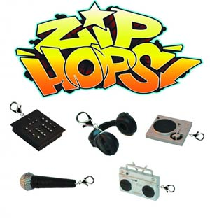 Zip-Hops Zipper Pulls Bling Mystery Box 25-Piece Display