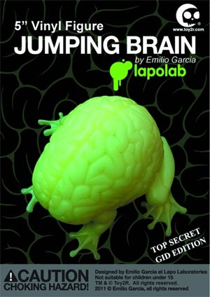 Jumping Brain 5-Inch Vinyl Figure Glow-In-The-Dark Version