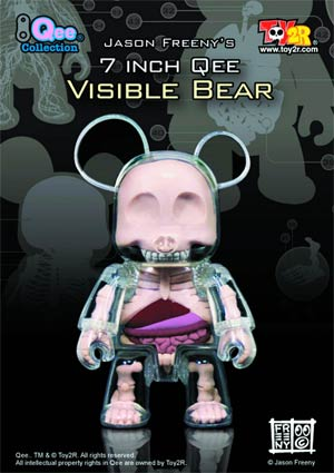 Visible Bear 7-Inch Qee Figure 6-Piece Assortment Case