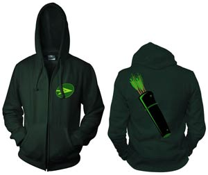 Green Arrow Symbol Full-Zip Hoodie Medium