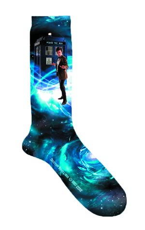 Doctor Who Doctor & TARDIS Print Mens Socks