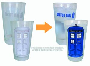 Doctor Who Color-Changing TARDIS 16-Ounce Glass 2-Pack